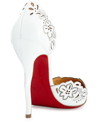 zapatos christian louboutin blancos