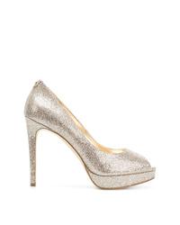 Zapatos de tacón de cuero con recorte dorados de MICHAEL Michael Kors