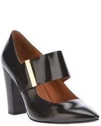 Zapatos de tacón de cuero con recorte negros de See by Chloe