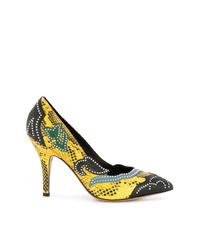 Zapatos de tacón de cuero con tachuelas en multicolor de Isabel Marant