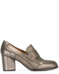 Zapatos de Tacón de Cuero Dorados de Chie Mihara
