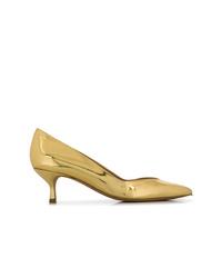 Zapatos de tacón de cuero dorados de Golden Goose Deluxe Brand