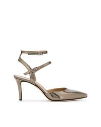 Zapatos de Tacón de Cuero Dorados de Marc Ellis