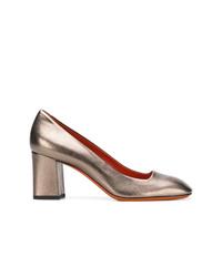 Zapatos de Tacón de Cuero Dorados de Santoni