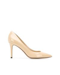 Zapatos de Tacón de Cuero Beige de Fabio Rusconi