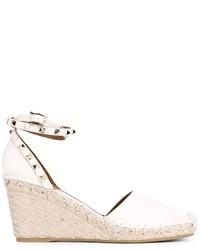 Zapatos de Tacón de Cuero Beige de Valentino