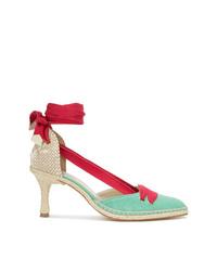 Zapatos de tacón de cuero en multicolor de Castaner