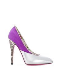 Zapatos de Tacón de Cuero Multicolor de Gucci