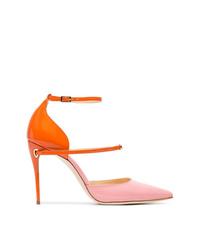 Zapatos de tacón de cuero en multicolor de Jennifer Chamandi