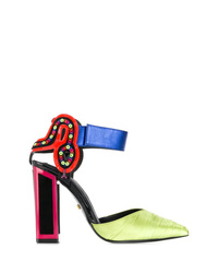 Zapatos de tacón de cuero en multicolor de Kat Maconie