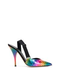 Zapatos de tacón de cuero en multicolor de Marco De Vincenzo