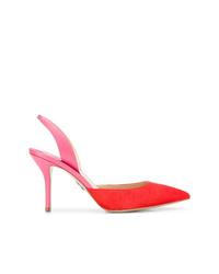 Zapatos de tacón de cuero en multicolor de Paul Andrew