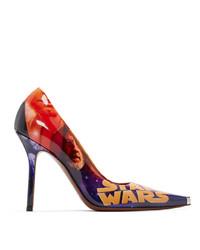 Zapatos de tacón de cuero en multicolor de Vetements