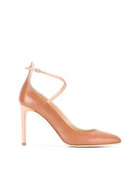 Zapatos de tacón de cuero en tabaco de Giuseppe Zanotti Design