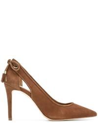 Zapatos de tacón de cuero en tabaco de MICHAEL Michael Kors