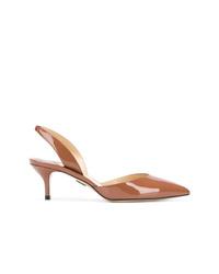 Zapatos de tacón de cuero en tabaco de Paul Andrew