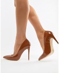 Zapatos de tacón de cuero en tabaco de SIMMI Shoes