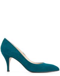 Zapatos de tacón de cuero en verde azulado de ESTNATION