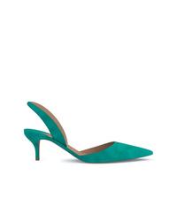 Zapatos de tacón de cuero en verde azulado de Paul Andrew