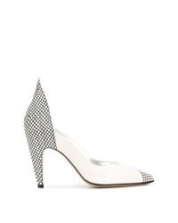 Zapatos de tacón de cuero estampados en blanco y negro de Givenchy