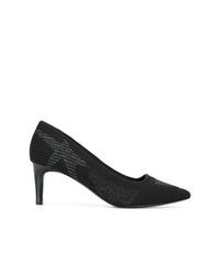 Zapatos de tacón de cuero estampados negros de Ash
