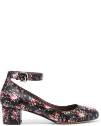 Zapatos de Tacón de Cuero Estampados Negros de Tabitha Simmons