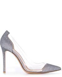 Zapatos de tacón de cuero grises de Gianvito Rossi
