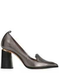 Zapatos de tacón de cuero grises de Nicholas Kirkwood