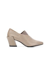 Zapatos de tacón de cuero grises de United Nude