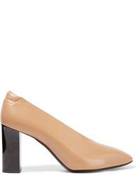 Zapatos de tacón de cuero marrón claro de Acne Studios