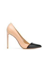 Zapatos de tacón de cuero marrón claro de Francesco Russo