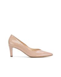 Zapatos de tacón de cuero marrón claro de Högl