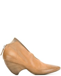 Zapatos de Tacón de Cuero Marrón Claro de Marsèll