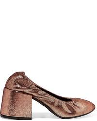 Zapatos de tacón de cuero marrón claro de MM6 MAISON MARGIELA