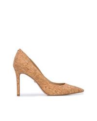 Zapatos de tacón de cuero marrón claro de Sam Edelman