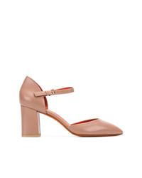 Zapatos de Tacón de Cuero Marrón Claro de Santoni