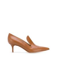 Zapatos de tacón de cuero marrónes de Gianvito Rossi