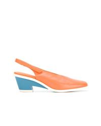 Zapatos de tacón de cuero naranjas de Camper