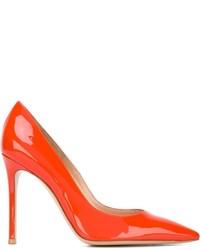 Zapatos de Tacón de Cuero Naranjas de Gianvito Rossi