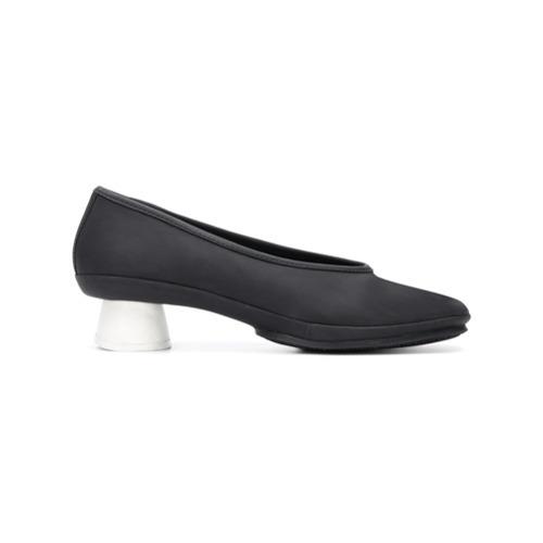 Zapatos de Tacón de Cuero Negros de Camper
