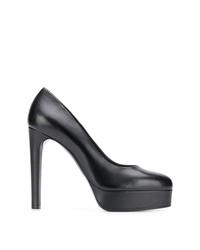 Zapatos de Tacón de Cuero Negros de Casadei