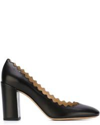 Zapatos de tacón de cuero negros de Chloé
