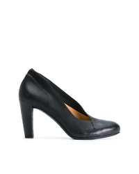 Zapatos de Tacón de Cuero Negros de Del Carlo
