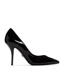 Zapatos de tacón de cuero negros de Dolce And Gabbana