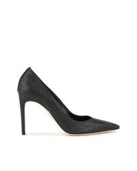 Zapatos de tacón de cuero negros de Dsquared2