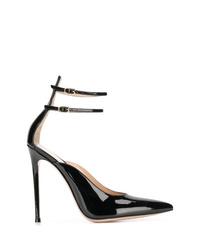 Zapatos de tacón de cuero negros de Gianvito Rossi