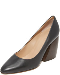 Zapatos de tacón de cuero negros de Helmut Lang