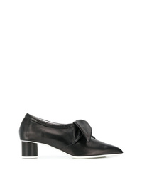 Zapatos de tacón de cuero negros de Jil Sander