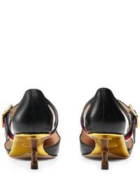 Zapatos de Tacón de Cuero Negros de Gucci