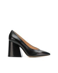 Zapatos de Tacón de Cuero Negros de Maison Margiela